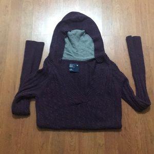 Women's American Eagle Hooded Sweater - XL